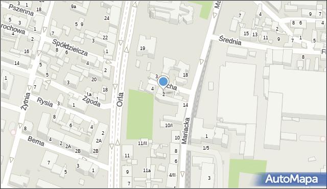 Sosnowiec, Cicha, 2, mapa Sosnowca
