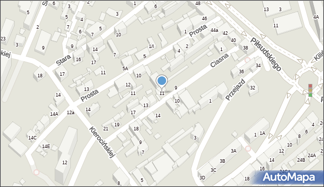 Sosnowiec, Ciasna, 11, mapa Sosnowca