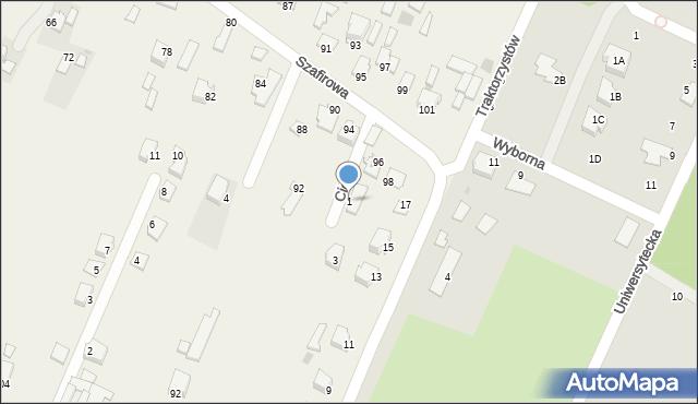 Wacyn, Cicha, 1, mapa Wacyn