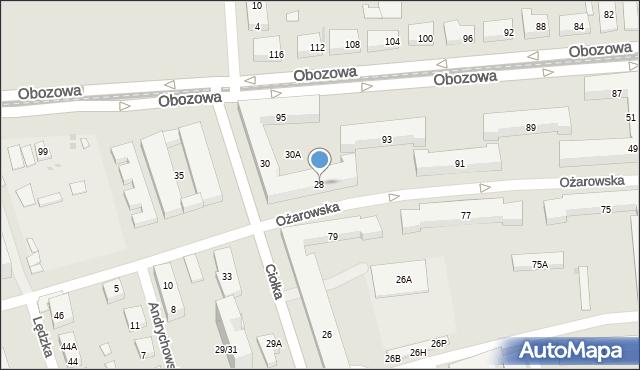 Warszawa, Ciołka Erazma, 28, mapa Warszawy