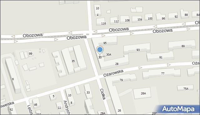 Warszawa, Ciołka Erazma, 30, mapa Warszawy