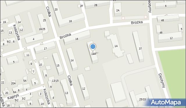 Warszawa, Ciołka Erazma, 14A, mapa Warszawy