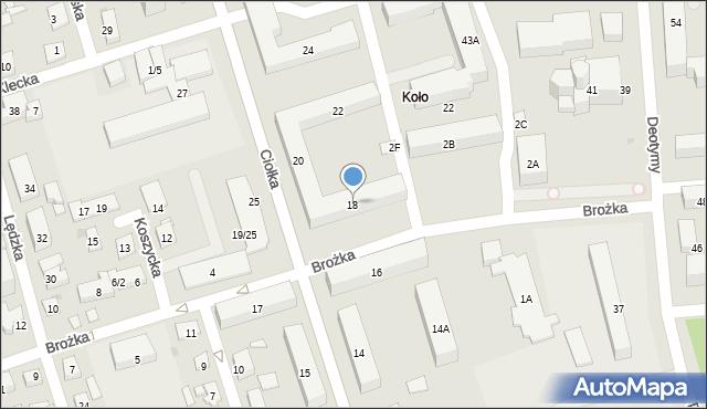 Warszawa, Ciołka Erazma, 18, mapa Warszawy