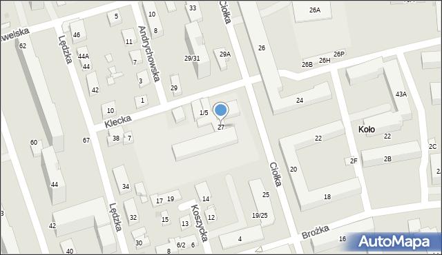 Warszawa, Ciołka Erazma, 27, mapa Warszawy