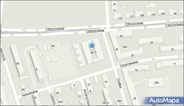 Warszawa, Ciołka Erazma, 35, mapa Warszawy