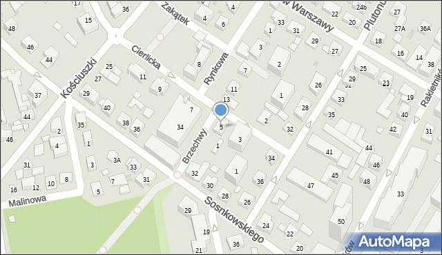 Warszawa, Cierlicka, 5, mapa Warszawy