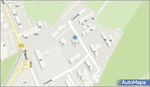 Zabrze, Cisowa, 3, mapa Zabrza