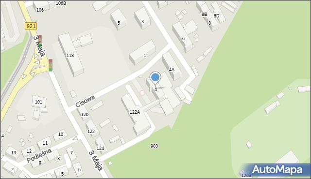 Zabrze, Cisowa, 4, mapa Zabrza