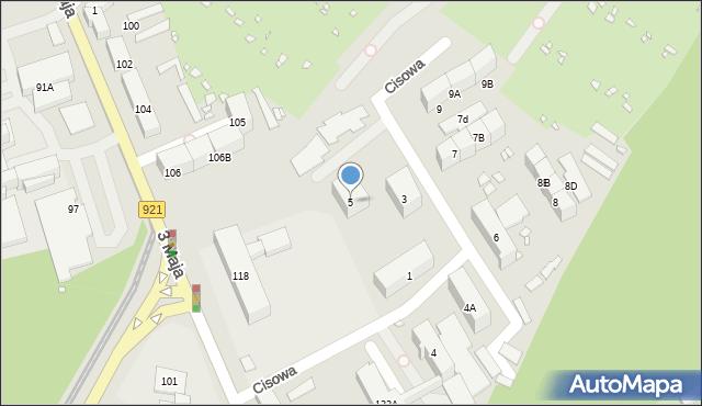 Zabrze, Cisowa, 5, mapa Zabrza
