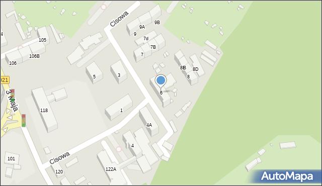 Zabrze, Cisowa, 6, mapa Zabrza