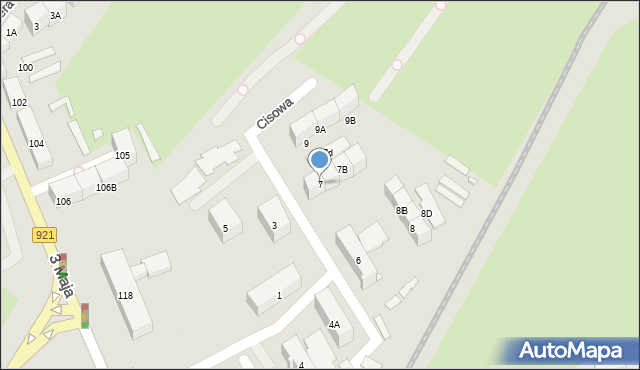 Zabrze, Cisowa, 7, mapa Zabrza