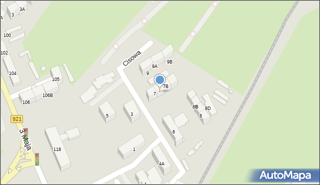 Zabrze, Cisowa, 7A, mapa Zabrza