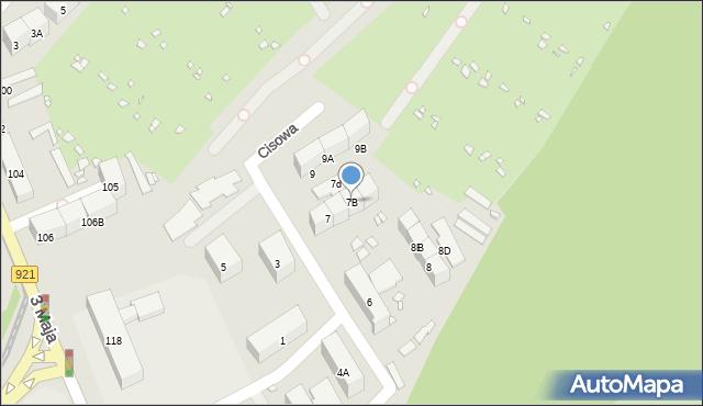 Zabrze, Cisowa, 7B, mapa Zabrza
