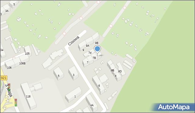 Zabrze, Cisowa, 7C, mapa Zabrza