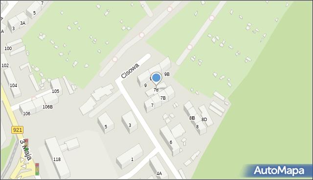Zabrze, Cisowa, 7d, mapa Zabrza