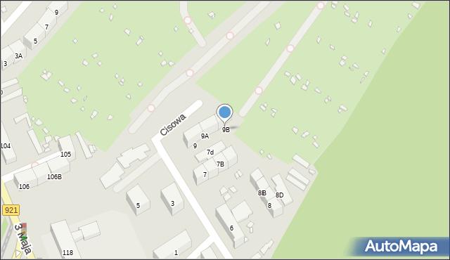 Zabrze, Cisowa, 9B, mapa Zabrza