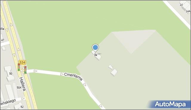 Grudziądz, Cmentarna, 3a, mapa Grudziądza
