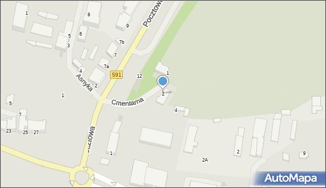 Kętrzyn, Cmentarna, 2, mapa Kętrzyn
