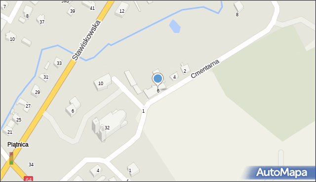 Piątnica Poduchowna, Cmentarna, 6, mapa Piątnica Poduchowna