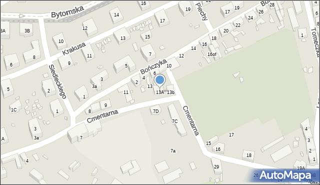 Zabrze, Cmentarna, 13A, mapa Zabrza