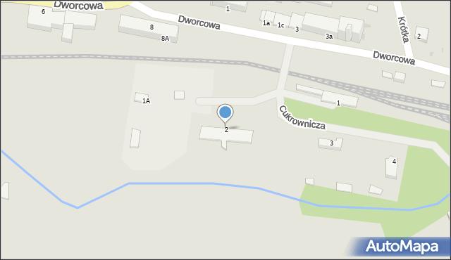 Kętrzyn, Cukrownicza, 2, mapa Kętrzyn