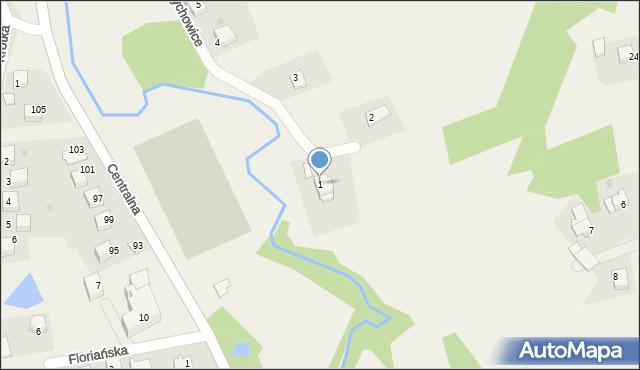 Frydrychowice, Cyprysowa, 1, mapa Frydrychowice