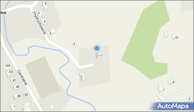Frydrychowice, Cyprysowa, 2, mapa Frydrychowice