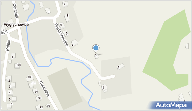 Frydrychowice, Cyprysowa, 3, mapa Frydrychowice