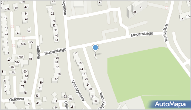 Toruń, Cyprysowa, 1, mapa Torunia