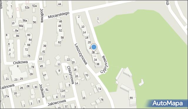 Toruń, Cyprysowa, 30, mapa Torunia