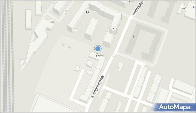 Warszawa, Cybernetyki, 17C, mapa Warszawy