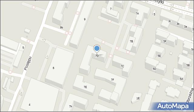 Warszawa, Cybernetyki, 7D, mapa Warszawy