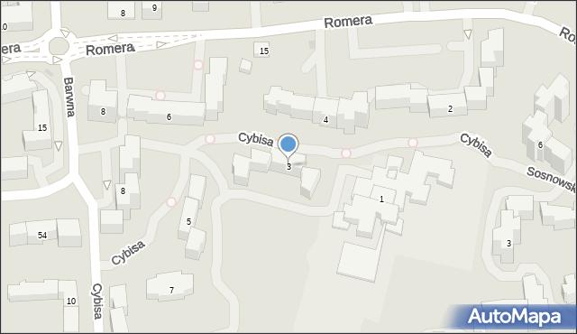 Warszawa, Cybisa Jana, 3, mapa Warszawy