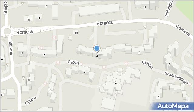 Warszawa, Cybisa Jana, 4, mapa Warszawy