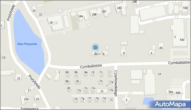 Warszawa, Cymbalistów, 8A, mapa Warszawy