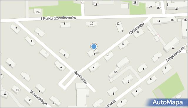 Chełm, Czackiego Tadeusza, 1, mapa Chełma