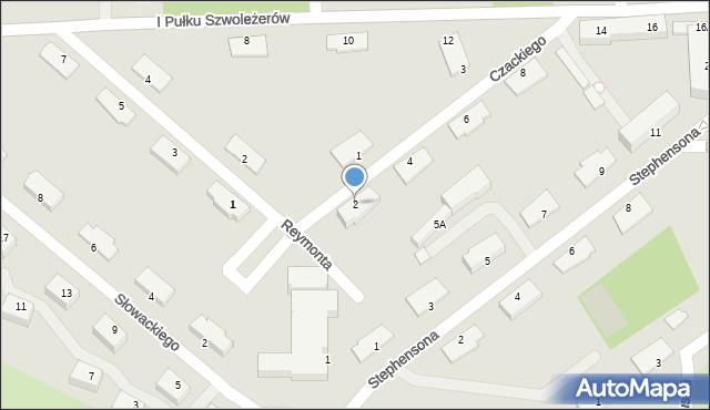 Chełm, Czackiego Tadeusza, 2, mapa Chełma