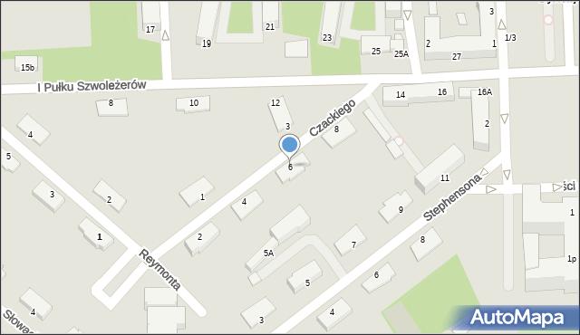 Chełm, Czackiego Tadeusza, 6, mapa Chełma