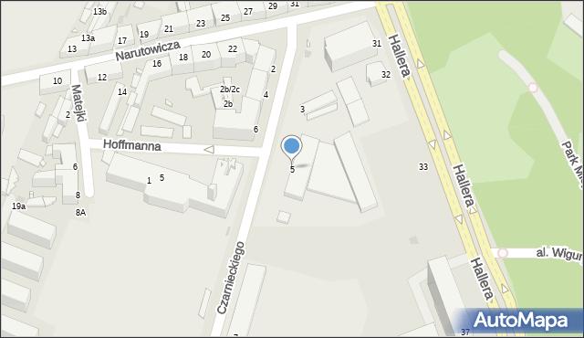 Grudziądz, Czarnieckiego Stefana, hetm., 5, mapa Grudziądza
