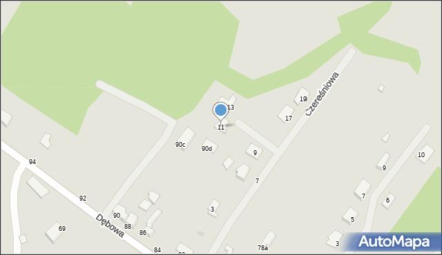 Grudziądz, Czereśniowa, 11, mapa Grudziądza
