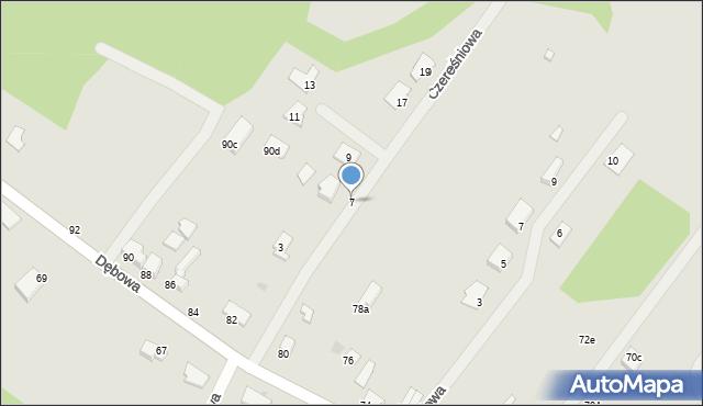 Grudziądz, Czereśniowa, 7, mapa Grudziądza