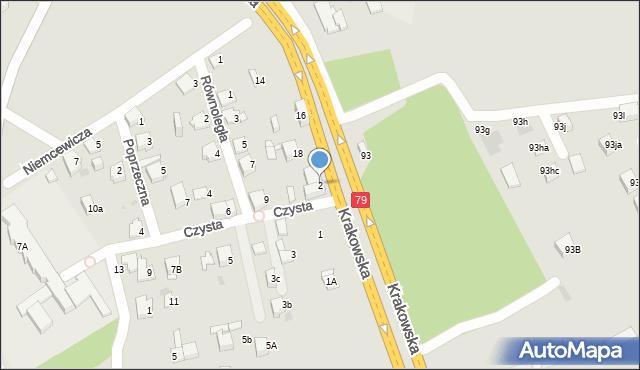 Jaworzno, Czysta, 2, mapa Jaworzno