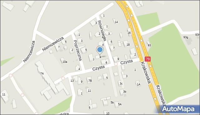 Jaworzno, Czysta, 4, mapa Jaworzno