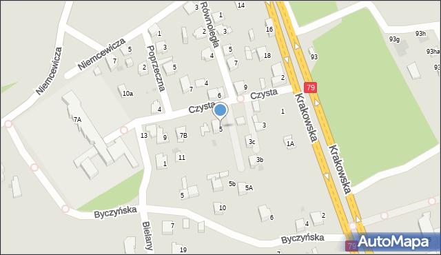 Jaworzno, Czysta, 5, mapa Jaworzno