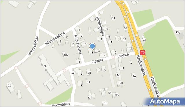 Jaworzno, Czysta, 7, mapa Jaworzno