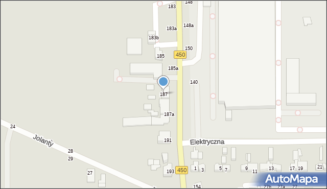 Kalisz, Częstochowska, 187, mapa Kalisza
