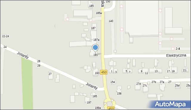 Kalisz, Częstochowska, 191, mapa Kalisza