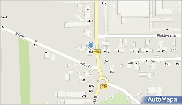 Kalisz, Częstochowska, 193, mapa Kalisza