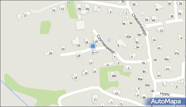 Kraków, Czyrniańskiego Emiliana, 17, mapa Krakowa