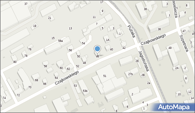 Krosno, Czajkowskiego Feliksa, 46, mapa Krosna